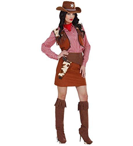 Costume Carnevale Donna Vestito Cowgirl *19810 Serie Cowboy Indiani-L