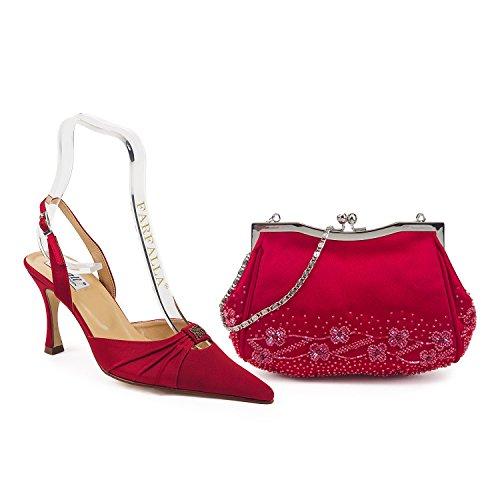 FARFALLA - Scarpe con cinturino alla caviglia donna Maroon
