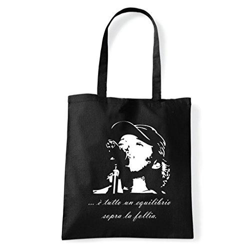 Art T-shirt, Borsa Shoulder Vasco Rossi Brivido Follia Nero