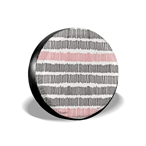 Dc Womens Shorts (Usicapwear Tire Cover Tire Cover Wheel Covers,Hand Drawn Short Vertical Lines Retro Horizontal Stripes Hipster Doodle,for SUV Truck Camper Travel Trailer Accessories 16 inch)