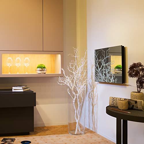 TecTake Spiegel Infrarotheizung Spiegelheizung ESG Glas Elektroheizung Infrarot Heizkörper Heizung inkl. Wandhalterung – diverse Modelle – (700 W | 93x62x4 cm | Nr. 402466) Bild 2*