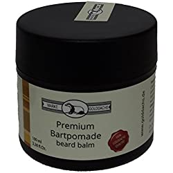 Golddachs Premium Bartpomade - beard balm - Made in Germany 100 ml