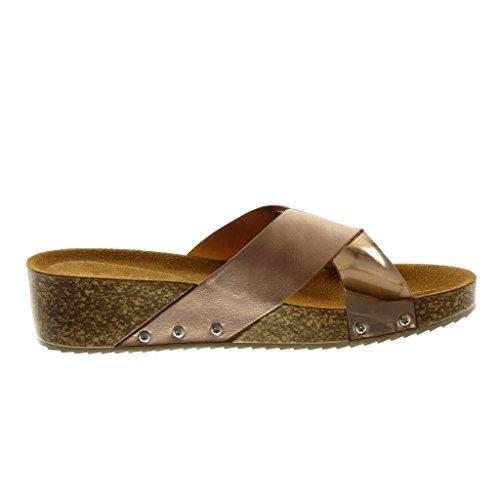 Donna Scarpe Slipon Moda Bimateriale Angkorly Sandali Mules Ydzzqw