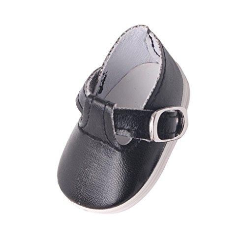 MagiDeal Scarpe Shoes with Buckles Sandali Calzini Miniature Accessori con Uniforme Scuola - Nero