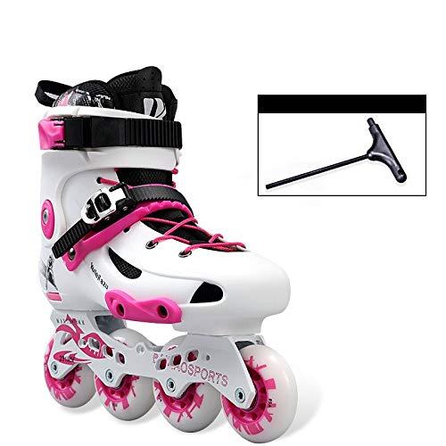 CYGJLYZ Roller Skates Inline Skate Adult Skates Inline Skates einreihig Licht Skates Männer und Frauen Skating-Schuhe Muster Rollschuh (Color : B, Size : 43)