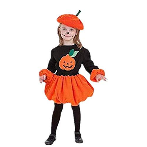 5 Stück Kleinkind Kinder Baby Mädchen Halloween Party Kürbis Cutie Pie Tutu Rock + Kürbis Hut Outfits Karneval Party Abschlussball Festliche Kleider Abendkleider Fotografie Kostüm - Kleinkind-kürbis-pie