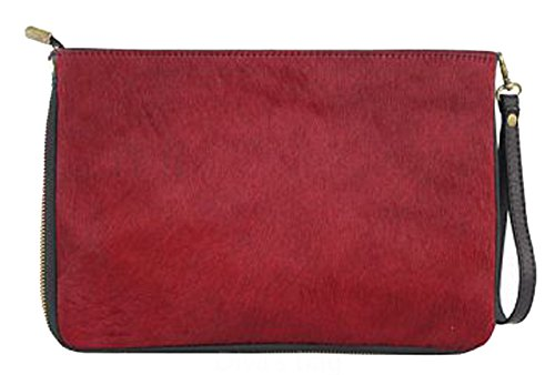 G&G PELLETTERIA , Damen Clutch Bordo'