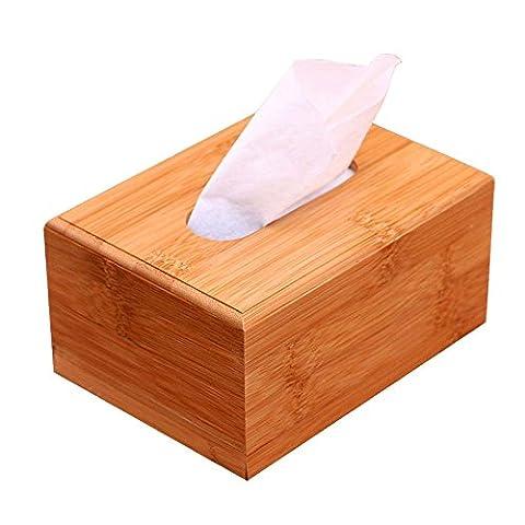 Bambus Tissue Box Cover Case Halter Tablett, rechteckig Serviette Halter Papier Spender für Home Office Hotel Auto Automotive Restaurants