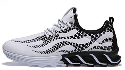 NSPX Scarpe da ginnastica di moda di Lightning Pattern di modo delle scarpe da tennis Scarpe da portare traspiranti di grande formato Scarpe sportive di grandi dimensioni , 41 388WHITE-45