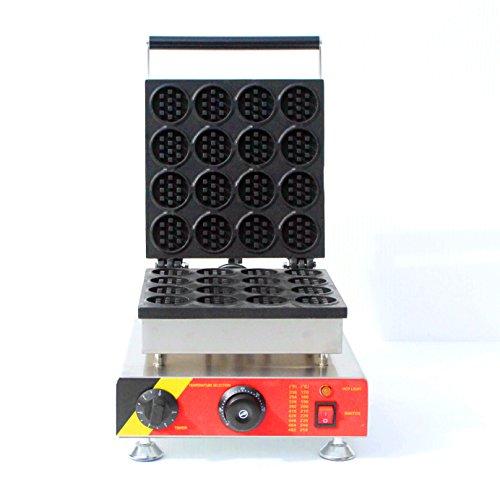 16pcs rond gaufrier antiadhésif Waffle Baker Commercial machine machine avec ce