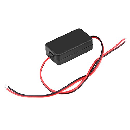 12 V DC relé de alimentación condensador filtro rectificador para coche cámara de visión trasera negro