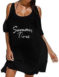 Trajes de Baño Cubrir Mujer, Amlaiworld Vestido Mujer Sexy Ropa de Playa de Verano Cartas