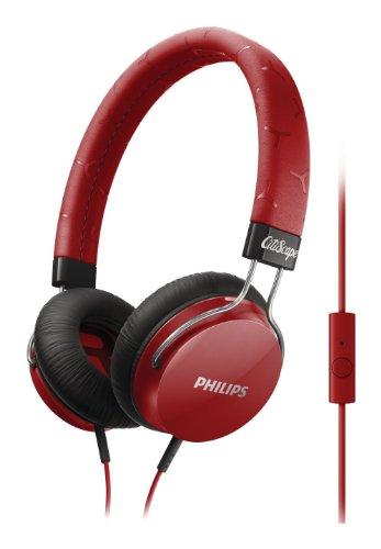 Philips SHL5305RD/00 CitiScape Fixie On-Ear-Kopfhörer mit Bügel rot