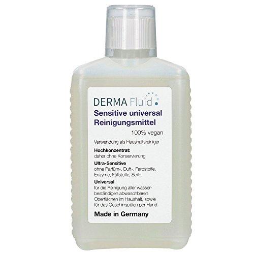 Sensitive Reinigungsmittel (5 ml auf 5 L Wasser) ohne Duftstoffe, Konservierer, Säuren, Lösemittel, Alkohol - ideal für Baby\'s, Asthma, Allergiker, Neurodermitis, empfindliche Haut/Allergie (250 ml)