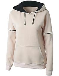 YOUJIA Sweat Shirt Sport a Capuche Pull Sweat-shirt à Capuche Femme Sweatshirts Hoodies Manches Longues Sweatshirt Femme Hiver