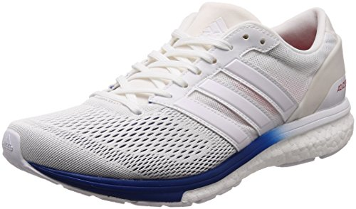 adidas Adizero Boston 6 Aktiv, Scarpe Running Unisex-Adulto, Blu Collegiate Navy/Footwear White/Hi-RES Red, 40 2/3 EU