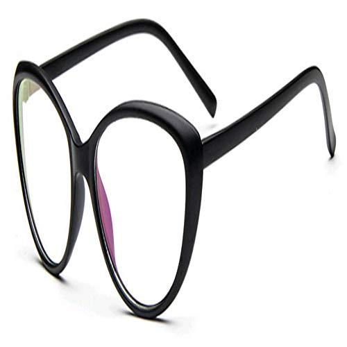 XCYQ Brillengestell Frauen Auge Brillengestell Männer Optische Glasse Rahmen Retro Brillen Computer Brille Transparente Gläser, B