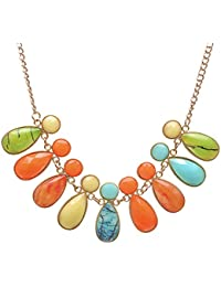 JDX Multi Crystal Morden Necklace For Women And Girls