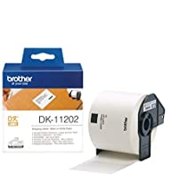 Brother DK-11202 Label Roll, Shipping Labels, Black on White, 300 Labels, 62 mm (W) x 100 mm (L), Brother Genuine Supplies