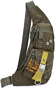 Sling Bags Crossbody Chest Bags Shoulder Backpack for Men Women (Army Green)