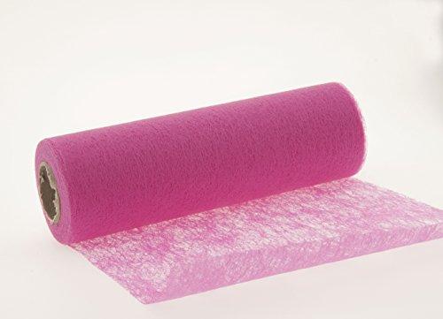 Vlies Tischband Tischläufer Hochzeit 23cm 20m , Farbe:pink