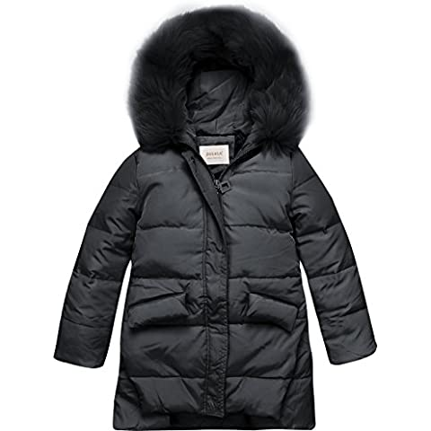 ZOEREA Piumino Bambina Invernale Giacca Bambina Piumino lungo Cappotto Snowsuit