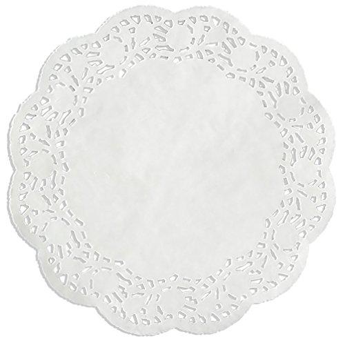Kunze Tortenspitze Rund, Geprägt, 100 Stück (Ø 21.5 cm), Papier, Weiß