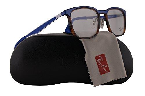Preisvergleich Produktbild Ray Ban RX7163 Eyeglasses 53-19-145 Matte Red Havana w / Demo Clear Lens 5678 RB7163 RB 7163 RX 7163