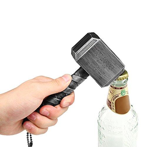 f868baadbd131 Ansley&HosHo Personalized Funny Mjolnir Hammer Beer Bottle Opener for  Bartenders Beer Lovers Gift Party Pub Bar Gifts Wine Corkscrew Beverage  Wrench ...