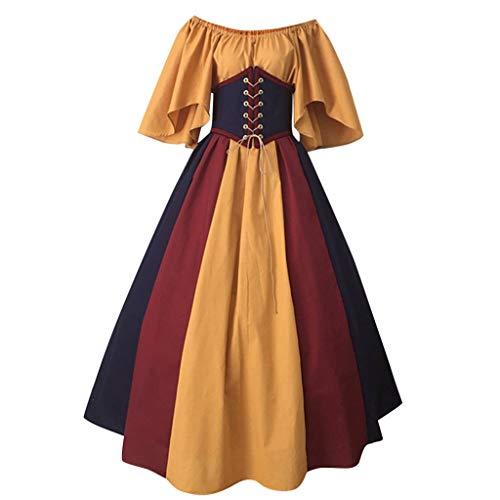 Jahrgang 1920 Kleider Für Verkauf - TIZUPI Halloween Kleid Damen Langarm Mittelalter