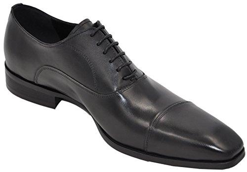 Uomo derbies 100% cuir chaussures de ville homme à lacets l2205_1 Noir