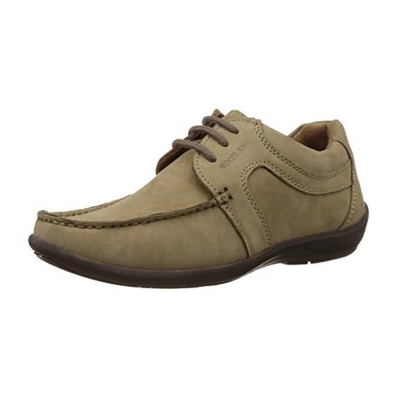 Woodland Men's Khaki Leather Shoes and