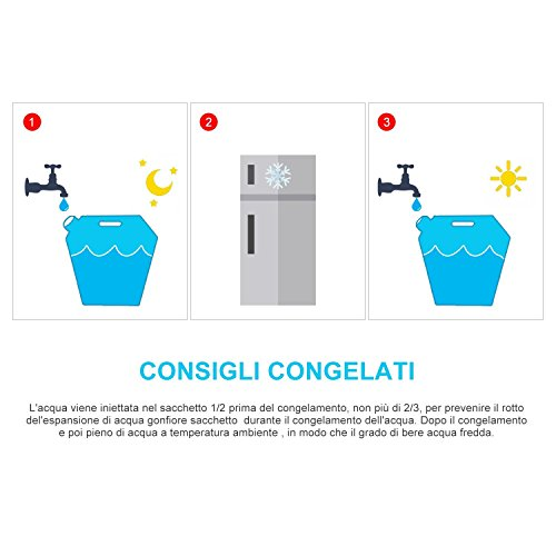 Yosoo Tragbar Faltbarer Wasserkanister Wasserbehälter Wassertank 5L