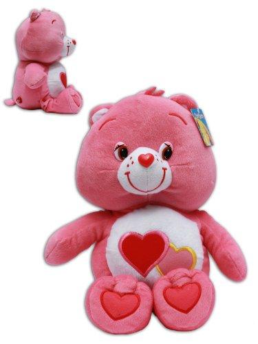 Lieb-mich-Bärchi 32/42cm Die Glücksbärchis Care Bears Love Rot Bär Teddybär Plüschtier Stofftier (Rot Care Bear)