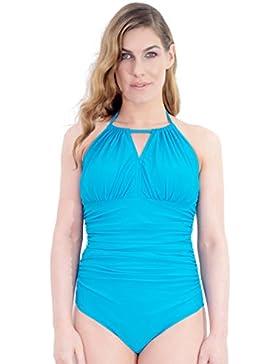 Buceo high-neck–Bañador para mastectomía Bañador (turquesa/azul). Clover Lewis de baño diseñado para las mujeres...