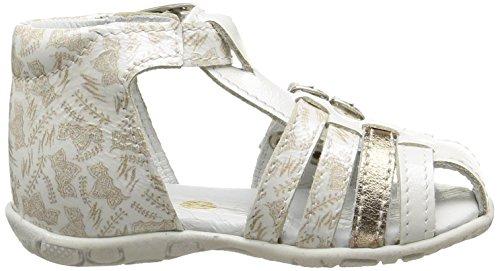 GBB Madeleine, Chaussures Bébé marche bébé fille Blanc (39 Vvn Blanc/Imprimé Dpf/Zabou)