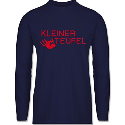 Sprüche - Kleiner Teufel - Longsleeve / langärmeliges T-Shirt für Herren Navy Blau