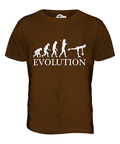CandyMix Kugelhantel Evolution Des Menschen Herren T Shirt Braun