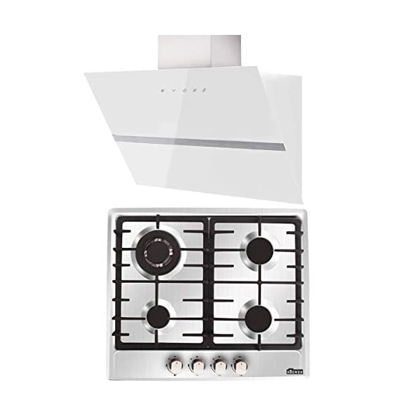 4 Burners/5 Burners Stainless Steel Gas Hob with 60cm 790 m³/h Extractor Hood 417mHWJQUqL