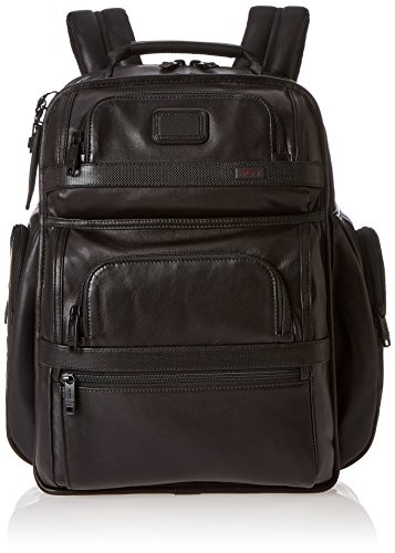 Tumi Alpha 2 T-pass Business Class Brief Pack-Rucksack aus Leder, Schwarz, 96578