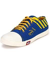 Knoos Men's Canvas Blue Sneakers (CR-02-BLU)