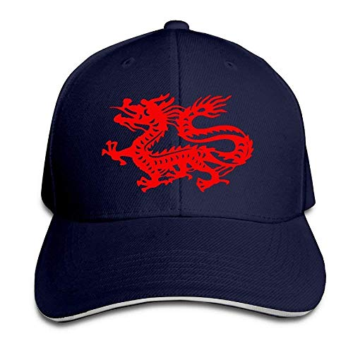 Preisvergleich Produktbild Monicago Hüte Unisex Chinese Dragon Adult Adjustable Sandwich Peaked Trucker Cap