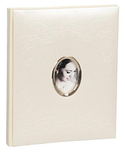 Ideal Konfirmation Kommunion Fotoalbum in 22x27 cm 40 Weiße Seiten Foto Album Fotobuch: Farbe: Creme
