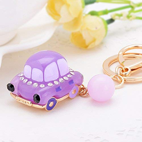 BIJGZ Home Auto Keychain Schöne Schön Strass Essenz Kette Eiffel Paris Turm Kreative Geschenk Ornament lila gelee Auto 484 -
