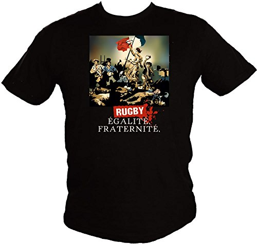 Hasta le Rugby By Serge Simon -T-shirt Rugby, Egalité, Fraternité