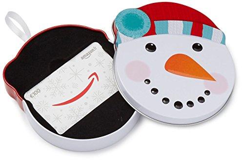 Carte cadeau Amazon.fr  -  €100 -  Dans un coffret Bonhomme de neige tout sourire