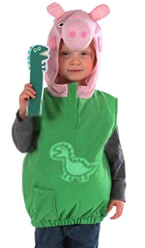 Halloweenia - Kinder George Pig Kostüm, 104, (George Pig Kostüm)