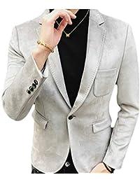 HaiDean Giacche da Uomo Giacche Fit Giacche Slim Blazer Casual Moderna  Eleganti per Il Tempo Libero Uomo Giacca Sportiva da… 3e29626c95e