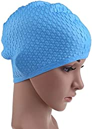 Swimming Cap, Women's Men's Long Hair Earmuffs Large Soft Silica Gel