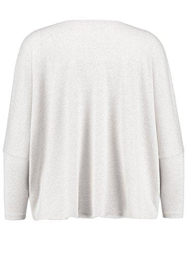 Key Largo Damen Langarmshirt WLS MIRANDA Longsleeve Herz Hearts Strass Weiß